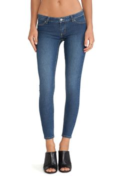 Cheap Monday Low Spray Jean in Mid Blue