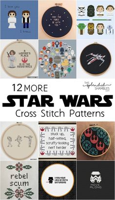 more star wars cross stitch patterns on This Splendid Shambles May the be with you! 12 more Star Wars Cross Stitch Patterns to celebrate Star Wars Day! 12 more Star Wars Cross Stitch Patterns to celebrate Star Wars Day! Cross Stitching, Cross Stitch Embroidery, Embroidery Patterns, Hand Embroidery, Star Wars Crafts, Geek Crafts, Happy Star Wars Day, Crochet Cross, Filet Crochet