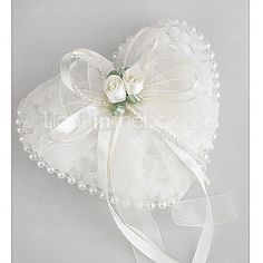 ... wedding garters ps pillows feathers roses pearls wedding ring heart