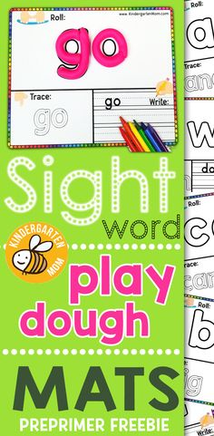 40 FREE Sight Word Play Dough Mats This free set of pre-primer sight word play dough mats is perfect for preschool and kindergarten.  Students roll, trace and write their way through 40 new words. via @prekmoms