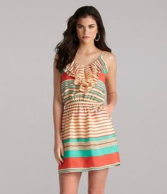 love these colors.  love the stripes + ruffles