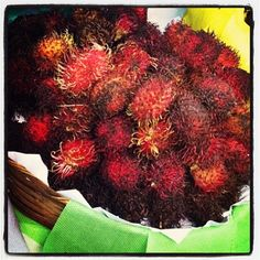 "@Dole Taylor Nutrition's photo: ""Beautiful rambutan we saw at a fresh market here in Brazil. Double tap if you like it. #fruits #brazil #brasil #freshmarket #market #rambutan"""