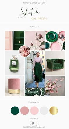 A Sketch London Wedding: Rose Quartz and Malachite Wedding Inspiration Board