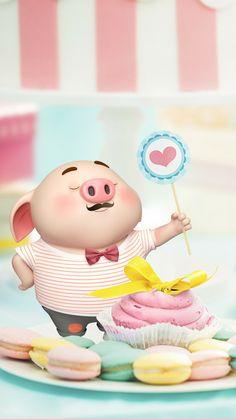 Pig Wallpaper, Disney Wallpaper, This Little Piggy, Little Pigs, Kawaii Pig, Cute Piglets, 3d Art, Small Pigs, Pig Drawing