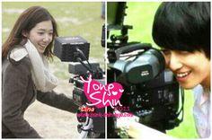 Behind the camera - Park Shin Hye & Jung Yong Hwa Alondra, Jung Yong Hwa, Park Shin Hye, Heartstrings, Cnblue, Korean Drama, Kdrama, Musicals, Romance