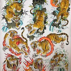 japanese tattoos for men Tribal Tattoos, Asian Tattoos, Black Tattoos, Body Art Tattoos, Sleeve Tattoos, Tiger Tattoo Design, Tattoo Designs, Japanese Tiger Tattoo, Tiger Sketch
