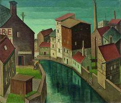 Max Radler (German, 1904-1971) Cityscape I (Zeitz / Saxony), 1931 Oil on canvas, 60 × 70 cm
