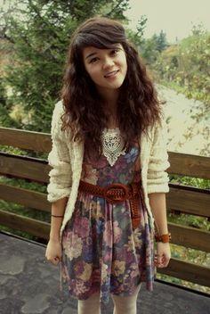 Primark Flower Dress, My Sweet Alpine Jumper