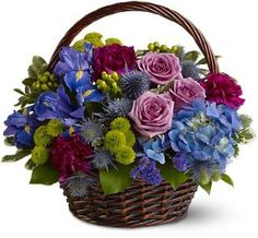 Twilight Garden Basket  - Griffins Floral Deisgn - Columbus Flowers - Columbus Florist - Same Day Flower Delivery Columbus Ohio
