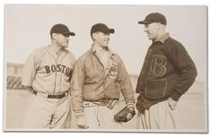 Bruins' Tiny Thompson with Red Sox