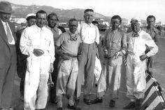 1935 Coppa Ciano - Livorno. Scuderia Ferrari - Brivio, Nuvolari, Ferrari, Trossi, Dreyfuss