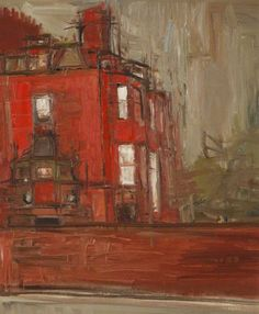 """Michael Lawrence Shinn, """"The Red House"""", Oil on canvas, 59.5 x 49 cm, Collection: Royal West of England Academy"""