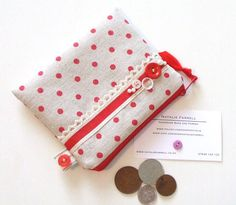 Red Polka Dot Coin Purse by nataliefarrell on Etsy