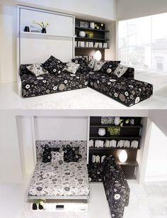 comment aménager une petite chambre à coucher avec un canapé escamotable pratique