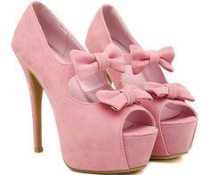 Pink bows.
