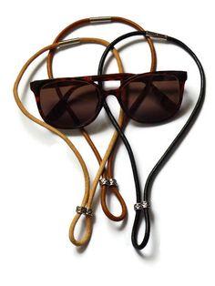 Collier porte lunettes en cuir, accroche lunettes de soleil tendance fait  main, cadeau mode 3da9fe3da1e3