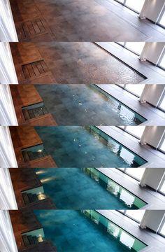 Hydro floors - floor sinks and pool appears.