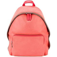 Stella McCartney 'Falabella' backpack (64.805 RUB) ❤ liked on Polyvore featuring bags, backpacks, red backpack, faux leather bag, faux leather backpack, stella mccartney backpack and pink backpack