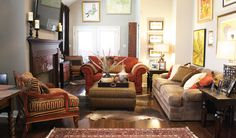 Classic, Color, Art All, Comfort, Warmth, Design, Oriental, Sofa, Couch, Accent Chair, Accessories, Feather, Leather, Animal Print, Living Room, Seating, Fireplace, Esther LaVonne
