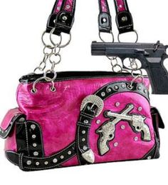 Hot Pink Dual Six-Shooter Belted Conceal and Carry Purse Handbags, Bling & More!,$40 http://smile.amazon.com/dp/B00GDICA74/ref=cm_sw_r_pi_dp_Cvustb1HZ3BSDD7H --- go to Amazon and type concealed carry purse, Shoe dept and various designs available for us women who love guns :)