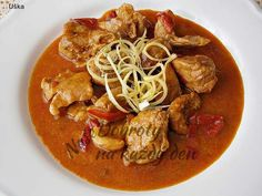 Thai Red Curry, Pork, Ethnic Recipes, Red Peppers, Kale Stir Fry, Pork Chops
