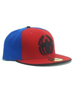 60b56043b13 New Era Spider-Man 59fifty Custom Fitted Hat Size 7 1 2 Marvel Comics