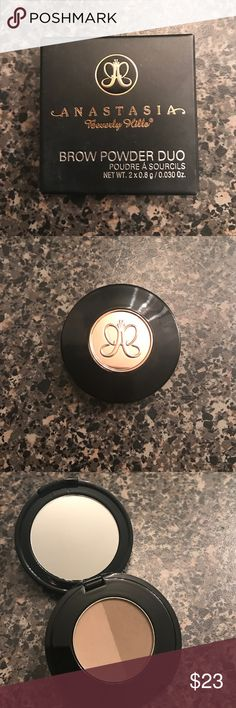 Anastasia brow powder duo medium brown New in box. Anastasia Beverly Hills Makeup Eyebrow Filler