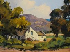 Building Painting, South African Art, Building Illustration, Paintings, Nature, Fun Art, Farms, Beautiful, Cape