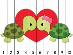 Valentine counting fun! 14 Valentine themed puzzles for counting practice with numbers to 100. Simply print, cut apart, and laminate. Great for math centers! Aligned to Kindergarten Common Core Standards. $
