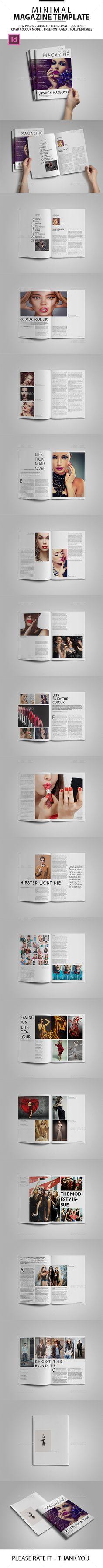 Minimal Magazine Template #design Download: http://graphicriver.net/item/minimal-magazine-template/12506166?ref=ksioks