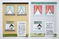 Project Life-sized house cut file freebie and tutorial // coordinates with the Studio Calico House Guests and Holiday House stamp sets.
