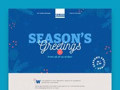 Website design for a company holiday site. #webdesign #design #ui #website #interface #ux #interaction #development #marketing #uxdesign #uidesign #landingpage #behance #dribbble #art #christmas #holiday #seasonsgreetings Site Design, Ux Design, Marketing, Behance, Design Inspiration, Website, Holiday, Art, Art Background