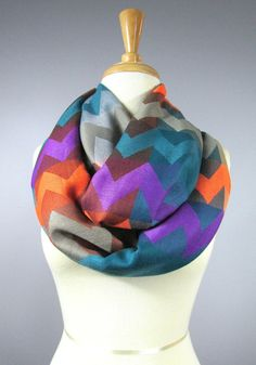 Chevron infinity scarf by ScarfObsession on Etsy