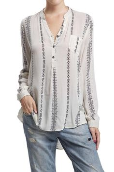This tunic top features a high low look, a v-neck line with three buttons. Pair it with your favorite vest. Hand wash cold. Do not bleach. Hang to dry. Iron low if needed. Let's Have Lunch Blouse by Blu Pepper. Clothing - Tops - Blouses & Shirts Clothing - Tops - Long Sleeve New Jersey