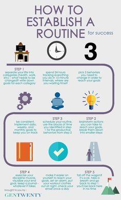 How to establish a routine to reach your goals | GenTwenty
