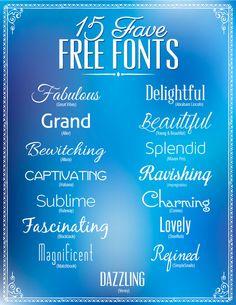 15 favorite free fon