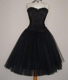 tutu skirt adult below the knee black tulle goth by darkestdreams-$44.00