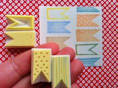 I would like to have these please!  GEOMETRIC hand carved rubber stamp. handmade. set. 4 mini  rubber stamps. no4.