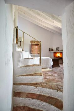 Can Casi A charming country hotel on the Costa Brava … – … - DIY Traumhaus Style At Home, Interior And Exterior, Interior Design, Interior Sketch, Interior Stairs, Luxury Interior, Earth Homes, Natural Building, Green Building