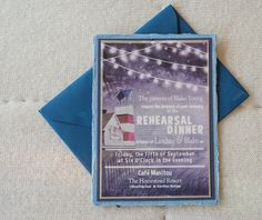 Personalized rehearsal dinner invitations created by our talented staff.