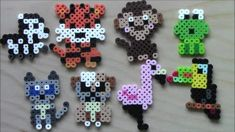 I'm studying animal biology and happen to really enjoy creating these original perler bead designs for some of my younger, beginner, or just animal-loving vi. Mini Hama Beads, Diy Perler Beads, Perler Bead Art, Pearler Beads, Fuse Beads, Beaded Jewelry Patterns, Beading Patterns, Easy Perler Bead Patterns, Hama Beads Design