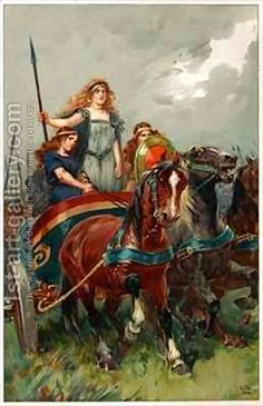 Boudicca mounted a revolt against Rome which left the ancient Roman cities of Camulodunum, Londinium & Verulamium in ruins & over 80,000 Roman citizens of Britain dead. She was defeated at the Battle of Watling Street by the Roman Governor Gaius Suetonius Paulinus chiefly by his judicious choice of battlefield & allowing her army to cut off its own escape route by encircling their rear with their wagons, animals & families.