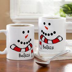 Hóember neves bögre - Bűbájos, kedves ajándék nem csak gyerekeknek! Kiváló minőségű hóember mintás neves bögre, melyre bármilyen egyedileg kért név kerül. - Egyedi fényképes ajándékok webáruháza - www.kepesajandekom.hu