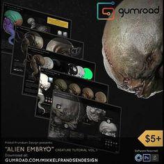 Alien Embryo tutorial vol. 1 by Mikkel Frandsen Design Buy at: www.gumroad.com/mikkelfrandsendesign