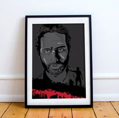 Rick Grimes The Walking Dead Comic Style by thedesignersnursery