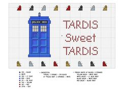 TARDIS Cross Stitch Pattern by kamidake.deviantart.com on @deviantART