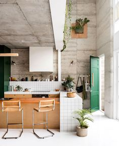Eco House WA - The Design Files — Dion Robeson - Architectural Photographer and Interior Photographer Perth Interior Window Trim, Interior Exterior, Interior Design Kitchen, Interior Architecture, Kitchen Decor, Interior Plants, Cafe Interior, Hygge, Concrete Design
