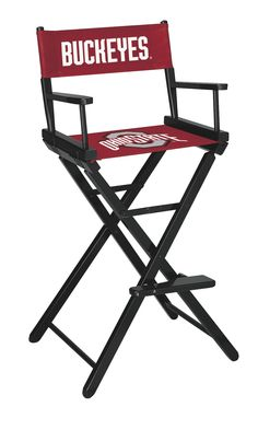 We are proud to present the premium Ohio State University Director's Chair in Bar Height by Imperial! Pull these director chairs up to your favorite pub table or bar and enjoy the Buckeyes big game in