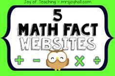 Just the Math Facts Math Fact Websites