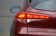 2016 Hyundai Tucson's taillights also utilize LED technology, creating a premium design element while providing enhanced visibility from the rear. Hyundai Cars, Show Lights, Tucson, Dream Cars, Led Technology, News, Modern, Design, Trendy Tree